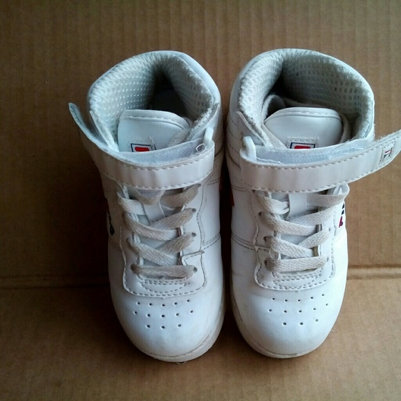 Boys fila high top sneakers size 9